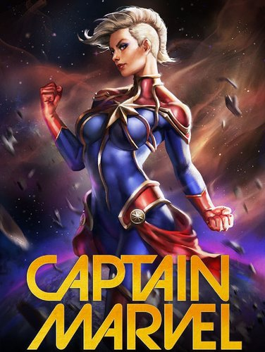 Marvel captain marvel premium art print 500213 01