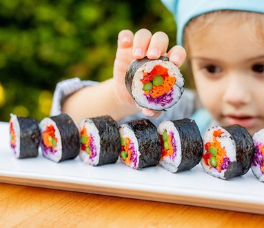 Funny sushi for kids