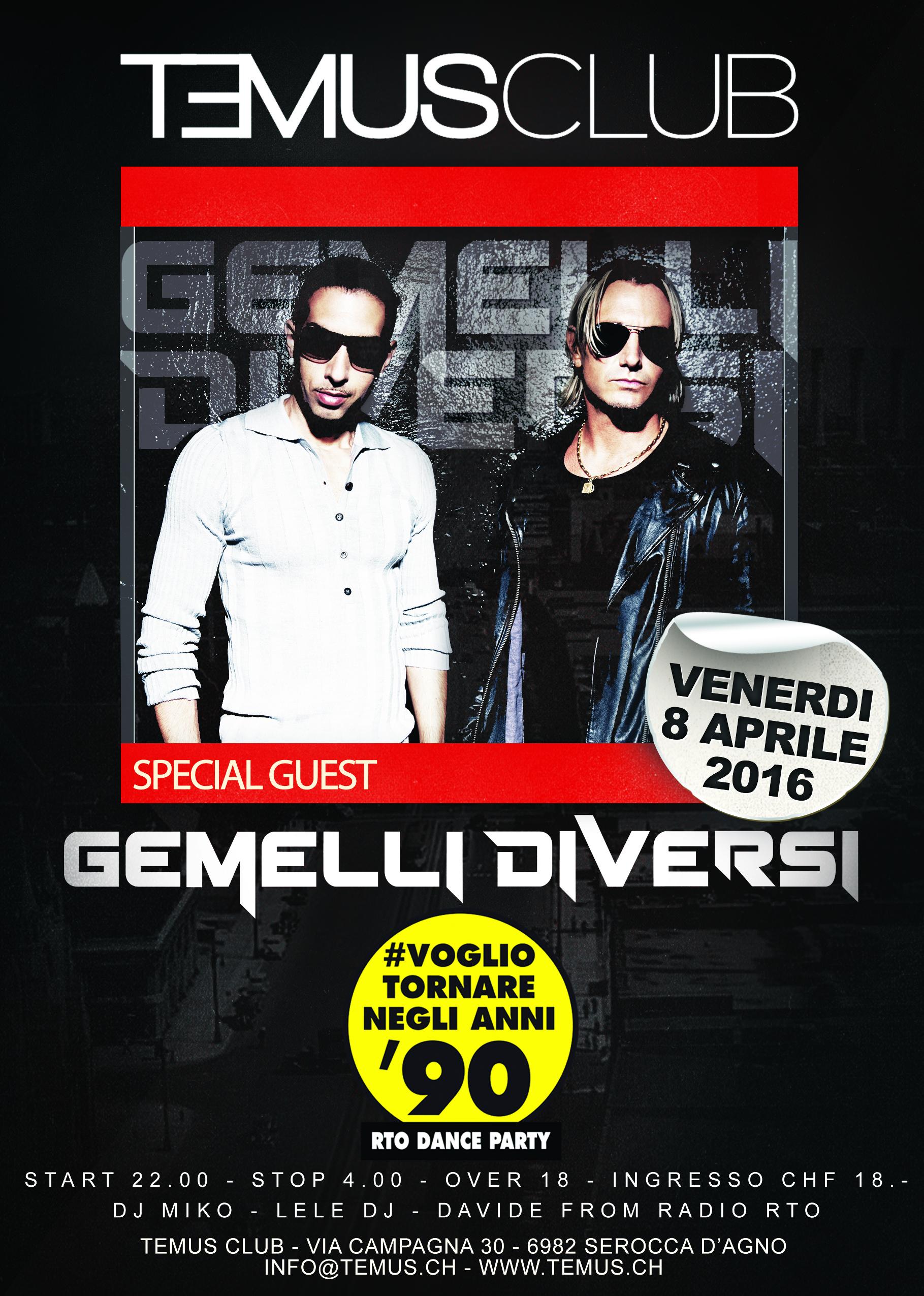 Gemelli diversi temus club eventi agendalugano - Vai gemelli diversi ...