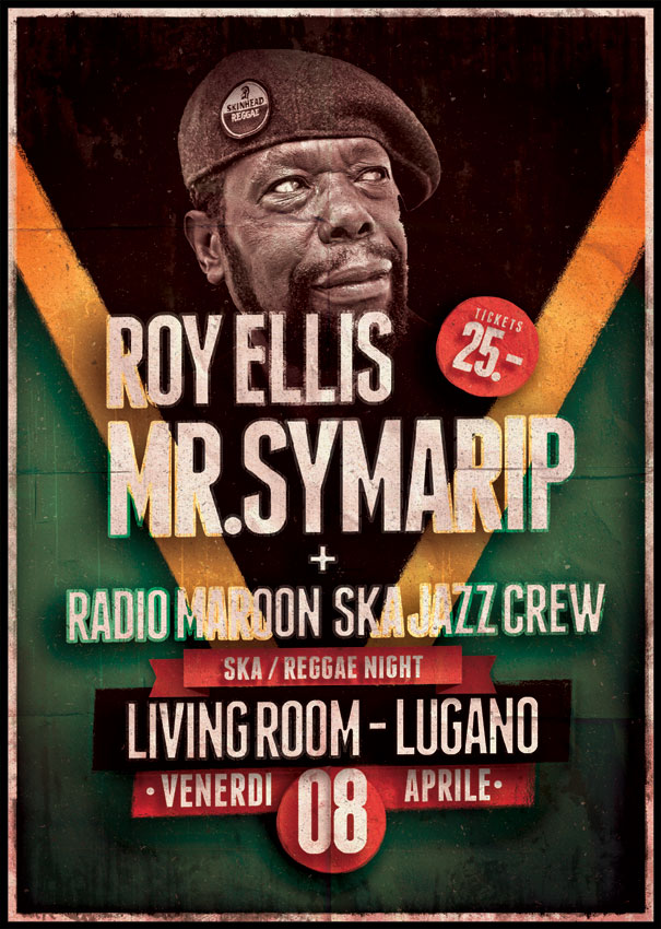 Roy ellis aka mr symarip live living room eventi agendalugano for Mr big live from the living room
