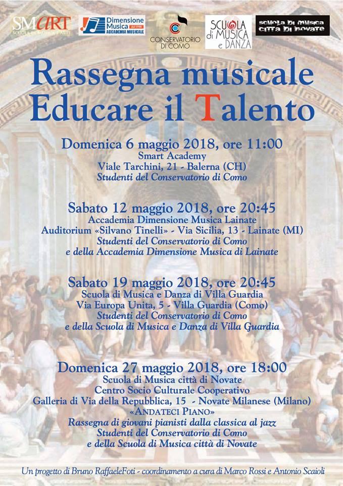 Scuola Di Musica Novate Milanese.Educare Il Talento Eventi Agendalugano